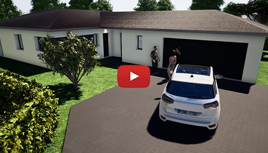 Maison plain pied 131m² 3 chambres à Isle
